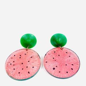 Vintage Large Watermelon Statement Earrings